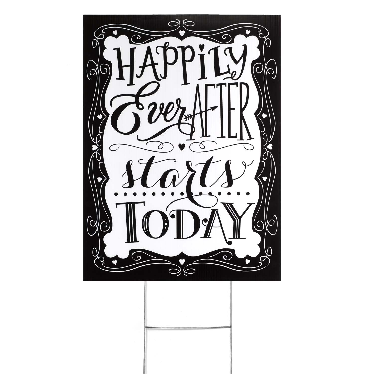 designer online Hortense B Hewitt yard Sign, Happily Happily Happily Ever After  alta quaità