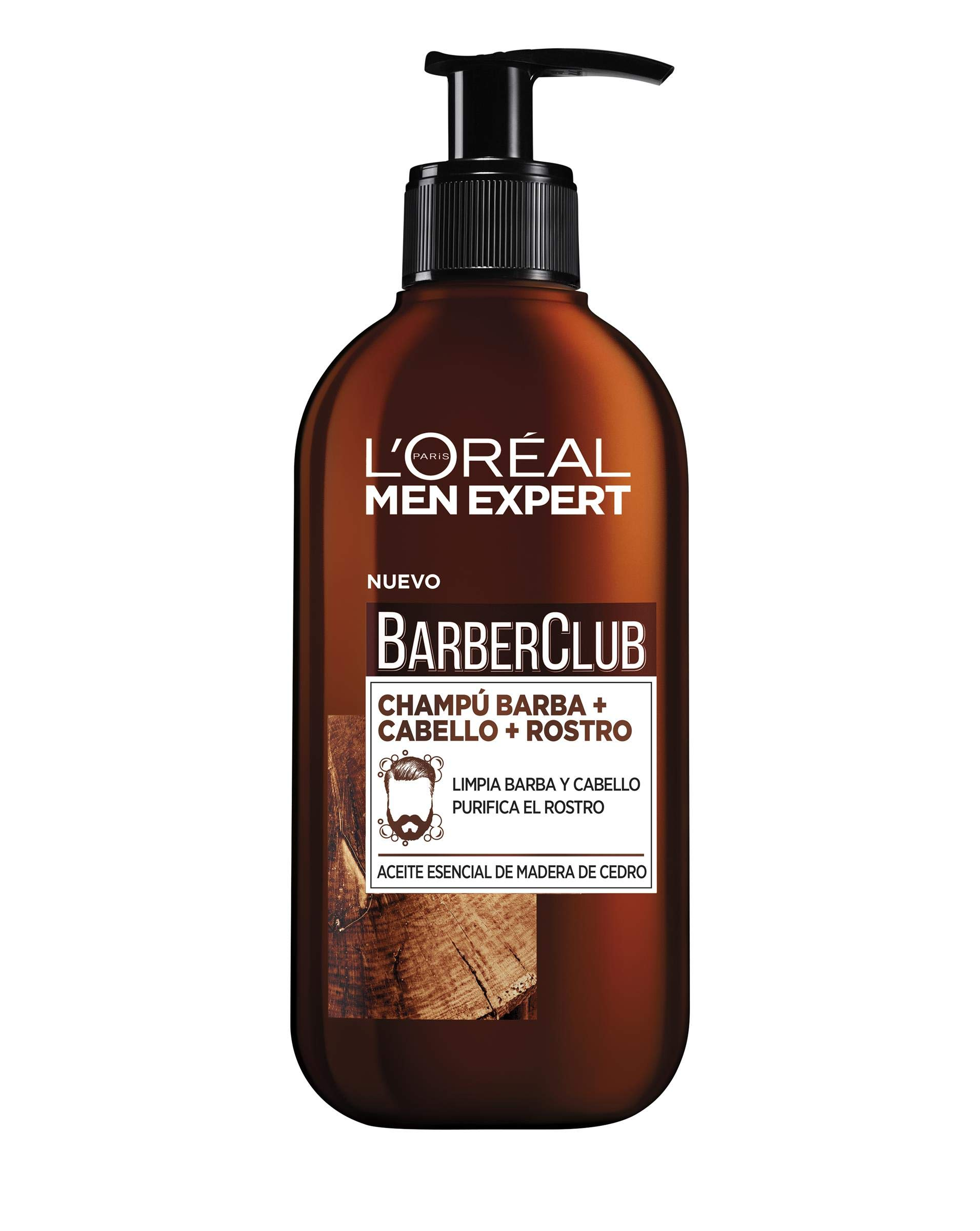 LOréal Paris Men Expert Barber Club Champú 3 en 1, para Barba,