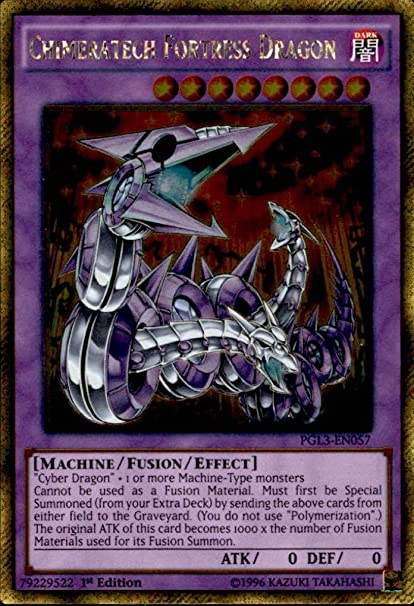 PGL3-EN057 Chimeratech Fortress Dragon Gold Rare 1st edition Mint YuGiOh Card