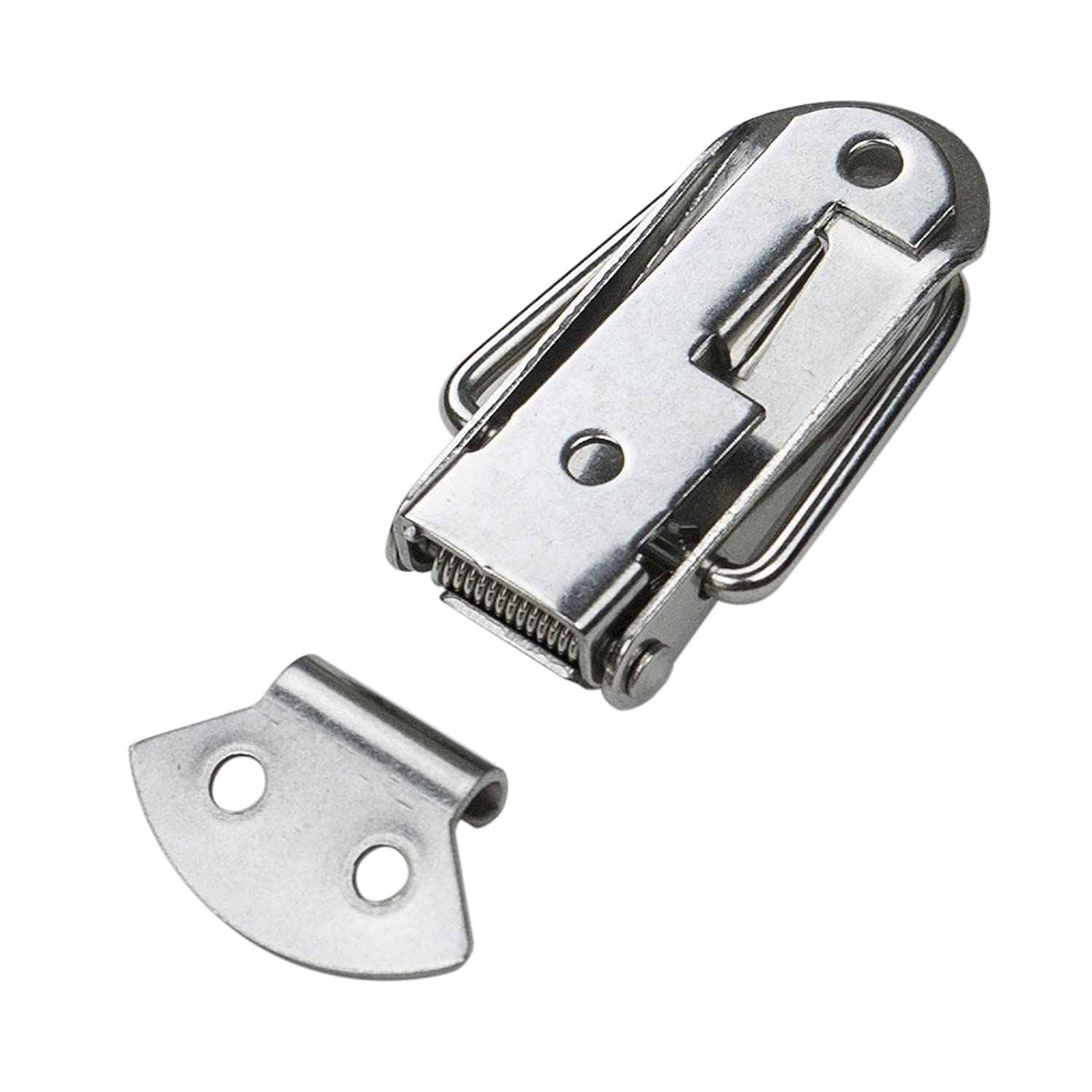 1-3//4-Inch 4-Pack POWERTEC 21109 Stainless Steel Spring Loaded Chest Latch with Catch Plate