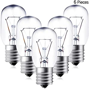 6 Pieces 40 Watt Appliance Bulb, Microwave Light Bulb Microwave Bulb Replacement Compatible with GE WB36x10003 Microwave