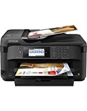 Epson WF-7710 Wireless Wide-Format Color Inkjet Printer with Copy, Scan, Fax, Wi-Fi Direct and Ethernet, Black