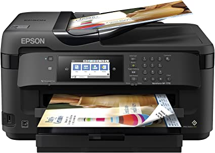 Workforce WF-7710 Wireless Wide-Format Color Inkjet Printer with Copy, Scan, Fax, Wi-Fi Direct and Ethernet, Amazon Dash Replenishment Enabled