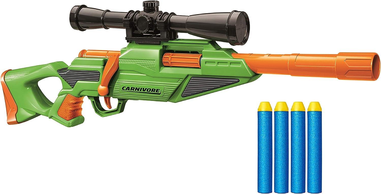 Amazon Com Air Warriors Buzz Bee Carnivore Foam Dart Blaster With Bolt Action Blasting 72 Feet 22m Toys Games
