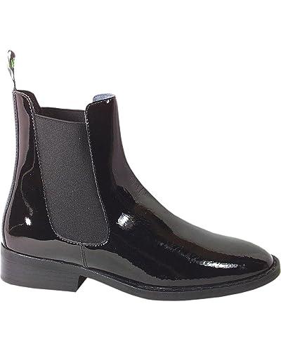 Women's Jodhpur Patent Leather Paddock Boot - 6006