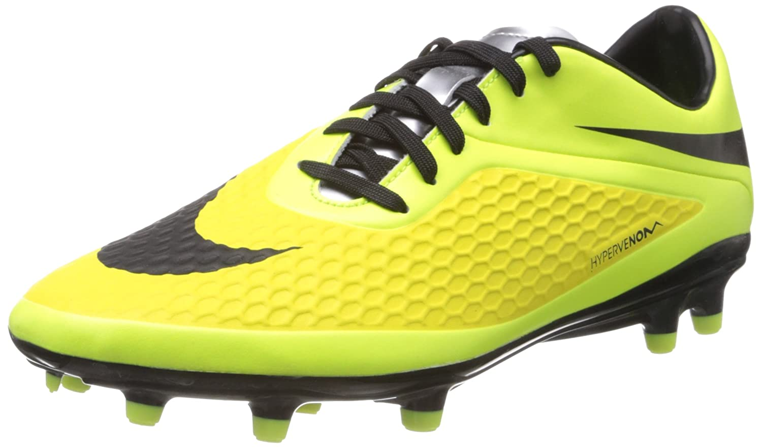 Amazon.com | Nike HYPERVENOM PHELON FG Men's Soccer Vibrant Yellow/Metallic  Silver/Volt Ice/Black US sz. 6.5 | Soccer