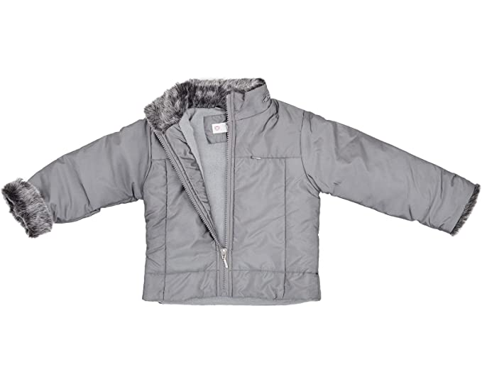 MTMF - Chaqueta - chaqueta guateada - para niña plateado ...