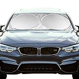 Windshield Sunshade ShowTop Powerful UV Ray Deflector High Quality Car Sunshade To Keep Your Vehicle Cool (59x27.6 Inch)