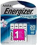 Energizer L92SBP-8 Energizer Ultimate Lithium AAA Battery, 8 Count, 0.08 kg