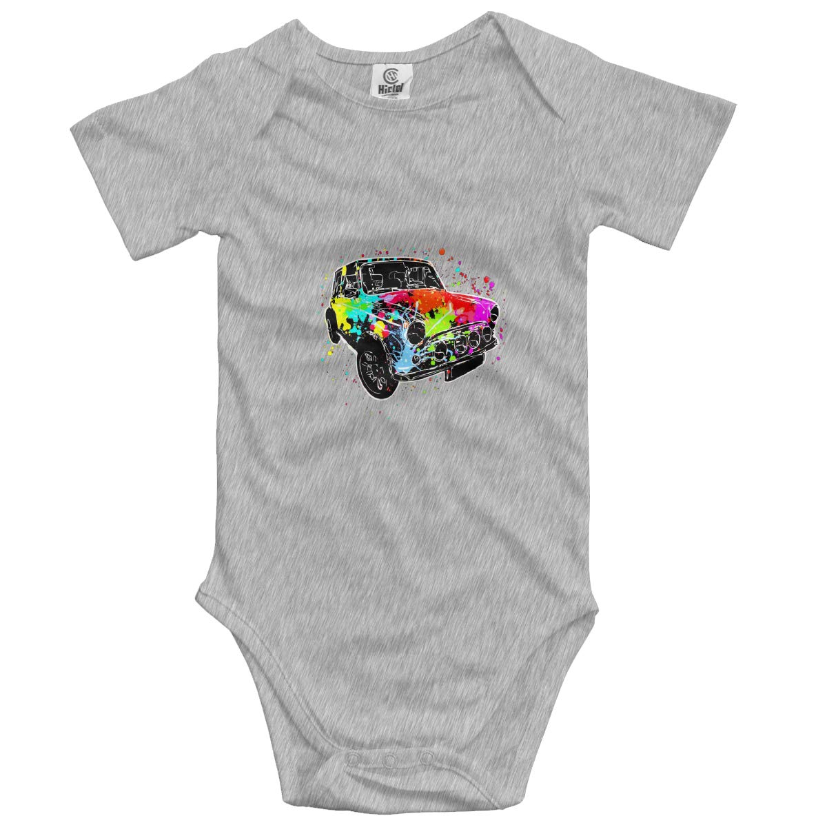 Vintage Colorful Paint Car Boys /& Girls Black Short Sleeve Romper Bodysuit Outfits for 0-24 Months