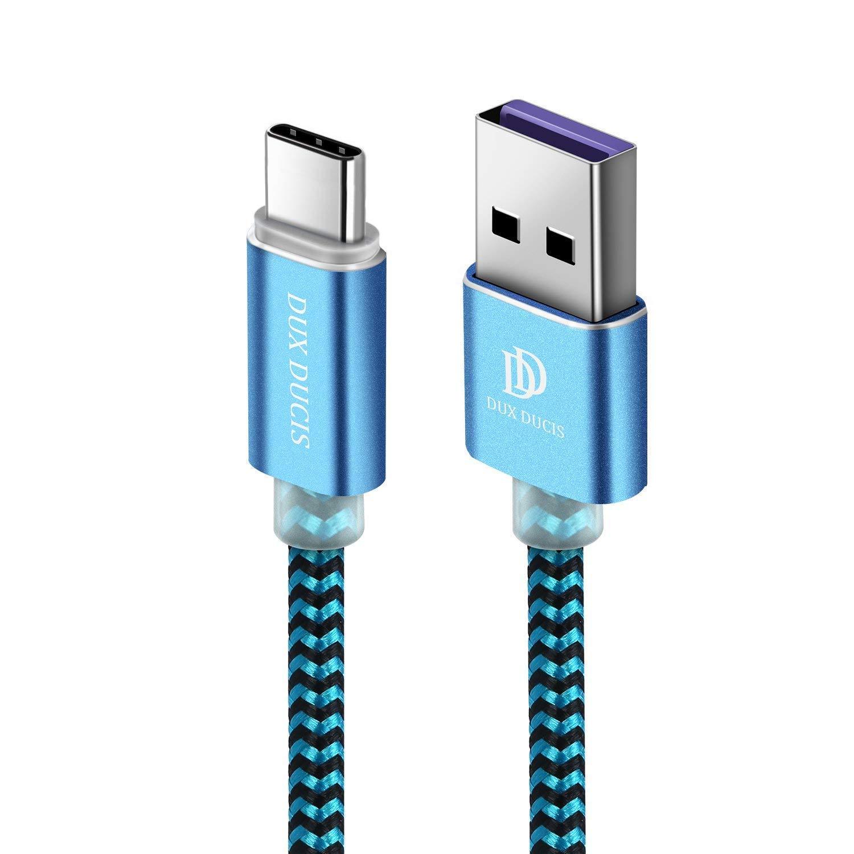 DUX DUCIS Huawei P30 / Huawei P30 Pro/Huawei P30 Lite Cable, Cargador USB Tipo C de Nylon Trenzado Cable para Todos los Dispositivos Huawei Type-C ...