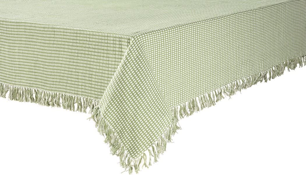 """Homespun 52""""x52"""" Sage Green Check Woven Reversible Tablecloth"""