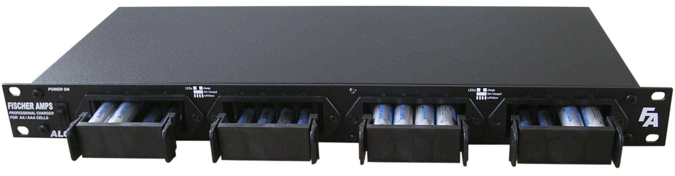 Fischer Amps ALC 161 Rackmount Battery Charger  for 16 AA/AAA Rechargeable Batteries