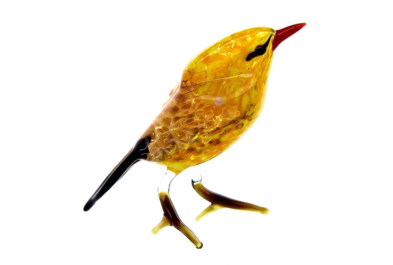 Glass Oriole Bird Animal Figurine Handmade Hand Blown Art Glass Figure 2.5