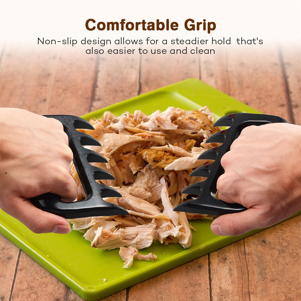 BBQ Gloves Heat Resistant, TaoTronics Meat Shredder Silicone and BBQ Brush, Grill Accessories, Perfect for Shredding Smoked Meat & Pulled Pork, Dishwasher Safe, FDA Approved by TaoTronics (Image #3)