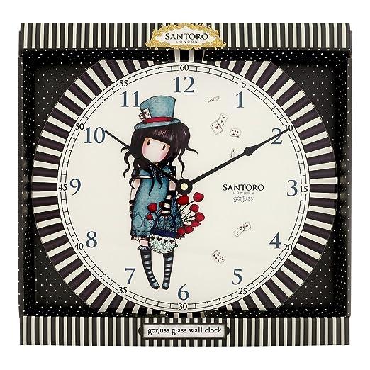 Gorjuss Charol Stripe The Hatter - Reloj de Pared: Amazon.es ...