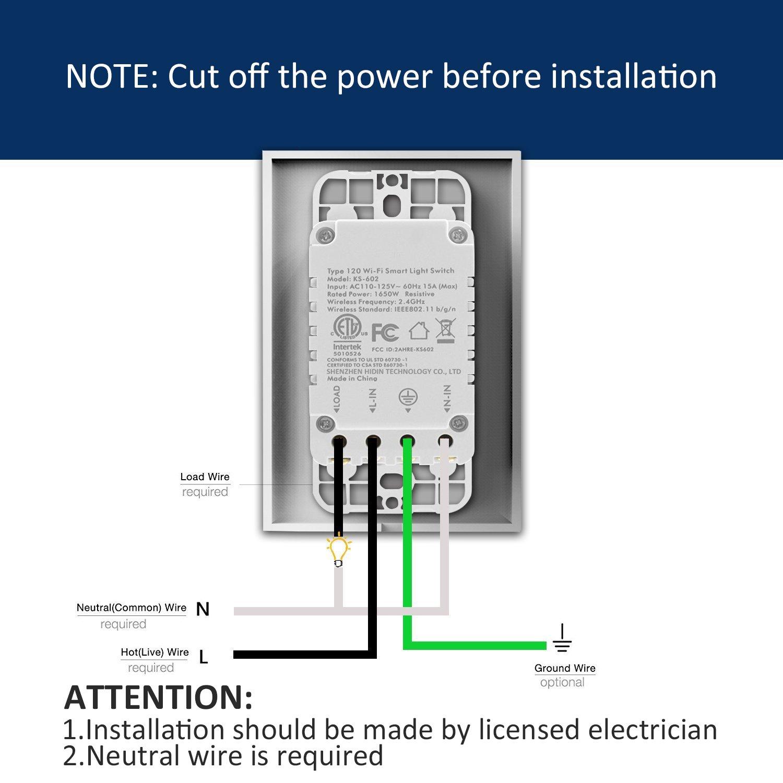 Smart Wifi Light Switch, Alexa Wall Smart Switch Phone Remote ...