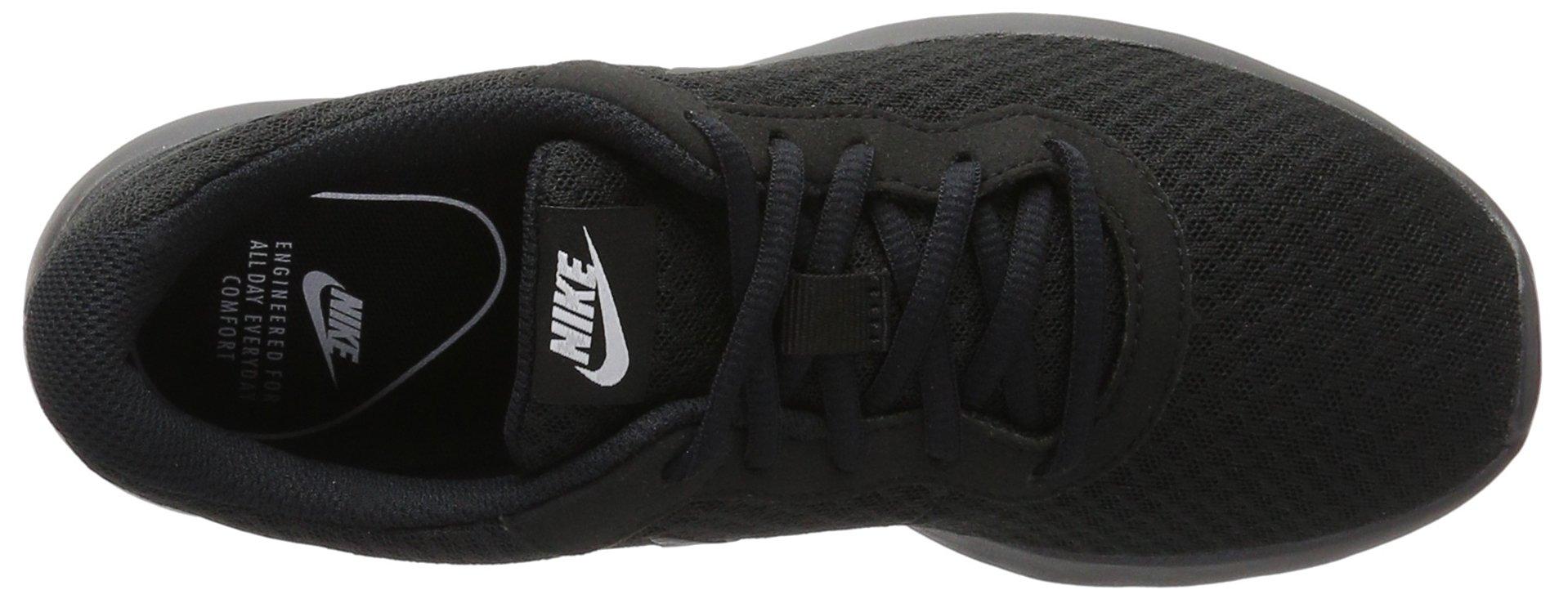 Nike Womens Tanjun Black/Black/White Running Shoe 6.5 Women US