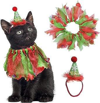 Amazon.com: BWOGUE - Collar de Navidad para gato, con ...