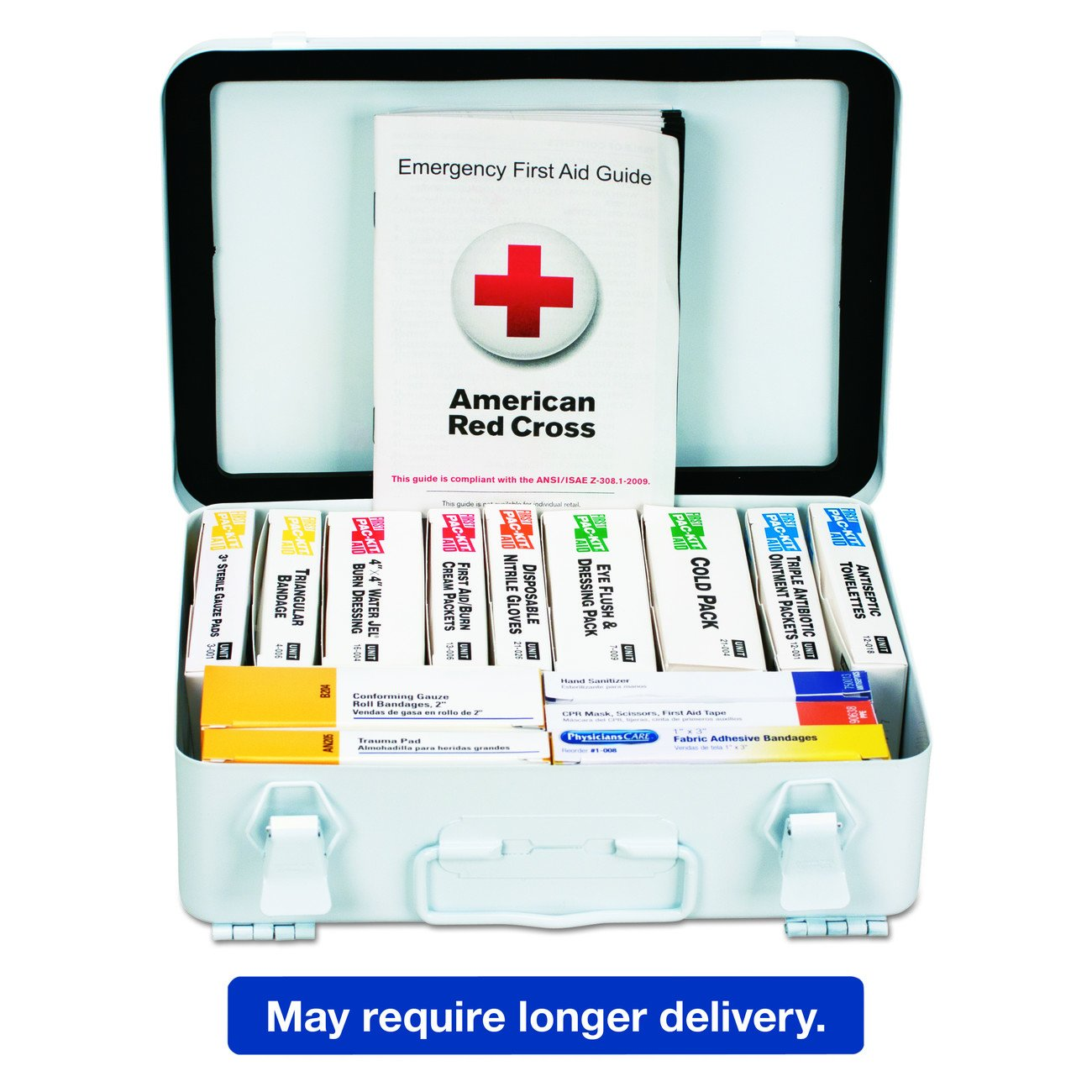 First Aid Only 90570 ANSI 2015 Compliant 54 Unit Class B First Aid Kit, Metal, Weatherproof by First Aid Only (Image #2)