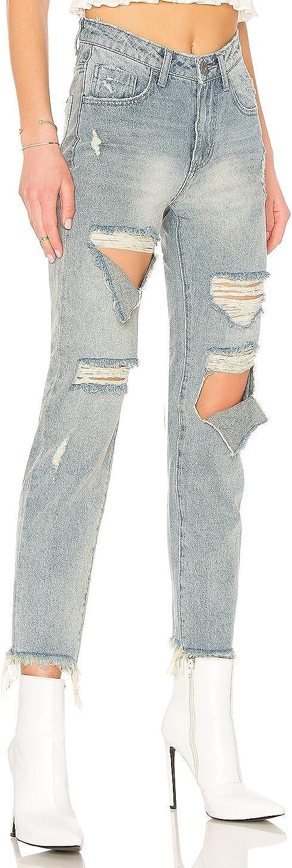 One Teaspoon Blue Storm High Waist Awesome Baggies Distressed Jeans Denim