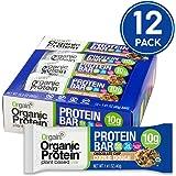 Orgain Organic Protein Bar, Chocolate Chip Cookie Dough, Vegan, Gluten Free, Non-GMO, USDA Organic, 1.41 Ounce, 12 Count