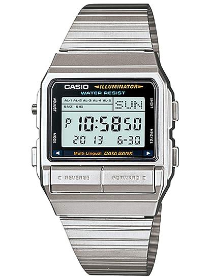 Casio DB380-1 - Reloj para Hombres, Correa de Acero Inoxidable Color Plateado: Casio: Amazon.es: Relojes