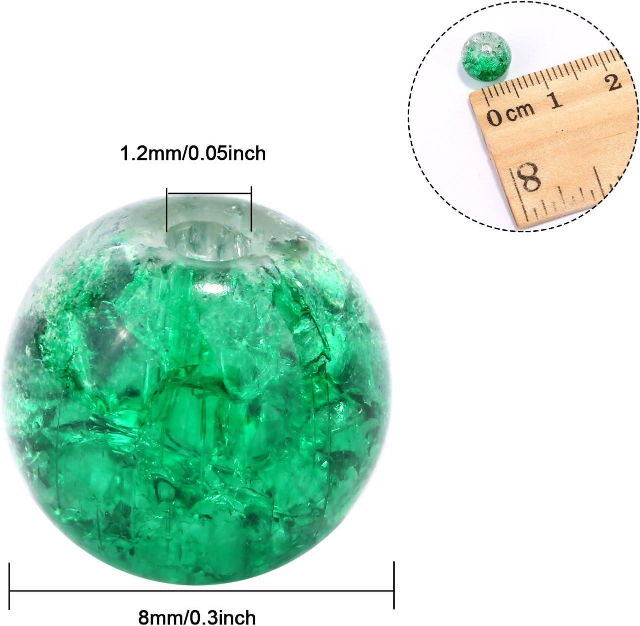 2164 50 abalorios 8 mm ransparent multicolor mezclados abalorios de vidrio bricolaje beads