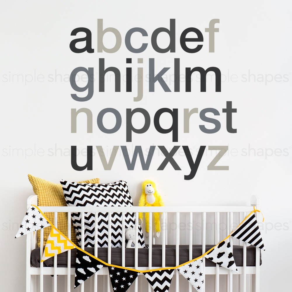 Alphabet Wall Decal - Scheme A - Small - by Simple Shapes W1132A-Small