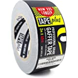 Gaffers Tape - 2 Inch by 40 Yards in Black - Get 33% More! High End Professional Grade - Gaffer Tape is the Perfect Alternative to Duct Tape, Electrical Tape, and other Adhesives
