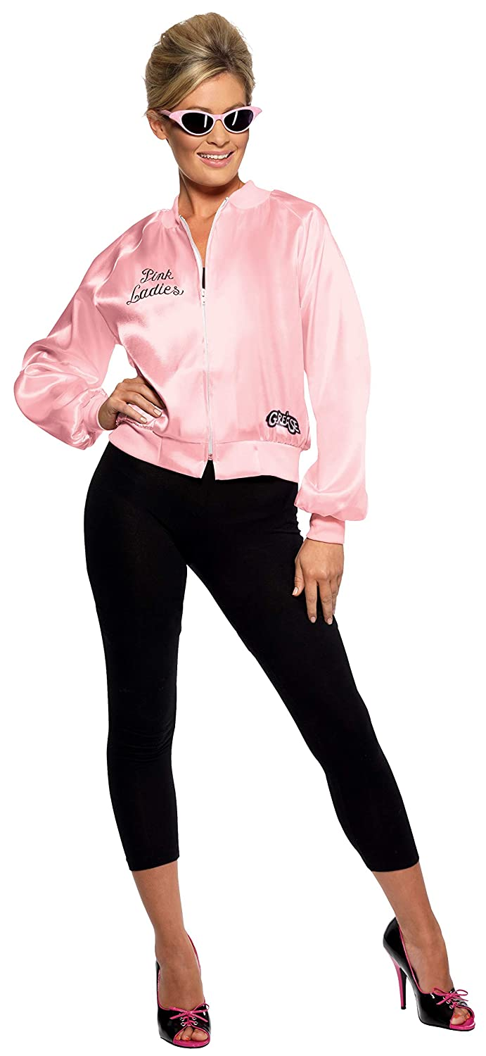 Smiffys Women's Grease Pink Ladies Jacket, Size:XS, Colour: Pink, 28385XS Smiffys Women's Grease Pink Ladies Jacket Smiffy's