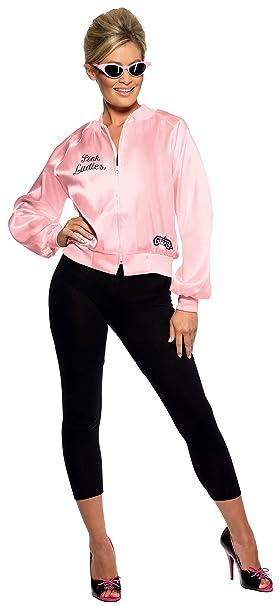 Smiffys 28385, Chaqueta de Mujer para Grease, Rosa, M (12-14 UK)