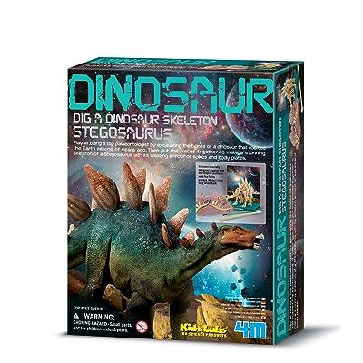 4M Dam 5603229 - Construction et Maquette - Animaux - Kidzlabs - deterre-Ton-Dinosaure - Stegosaurus