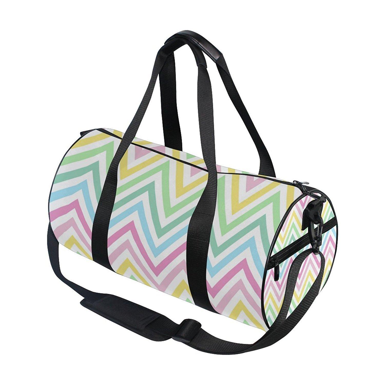 d28c3ee003c4 ... OuLian Gym Bag Watercolor Horse Women Yoga Canvas Duffel Bag Cute Sports  Bag for Girls ...