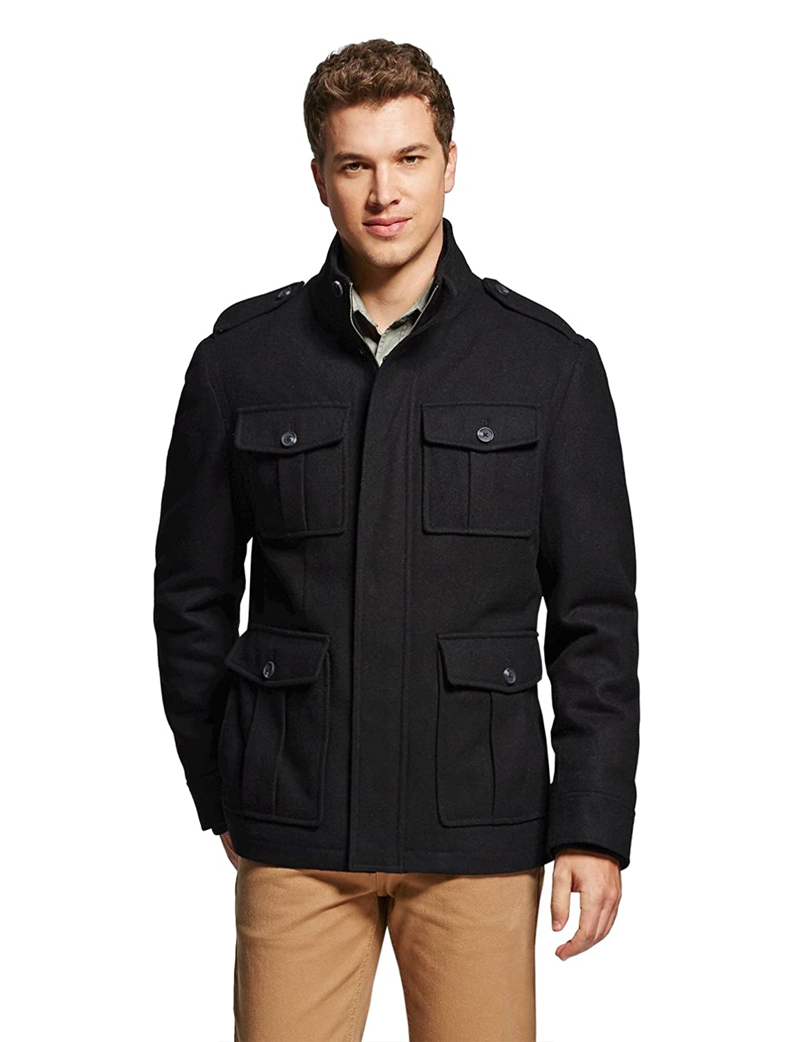 2f8d8b4d362 7Encounter Men s Wool Four Pocket Jacket at Amazon Men s Clothing store