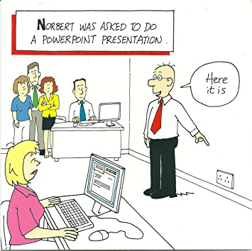 funny joke humourous blank card norbert val powerpoint