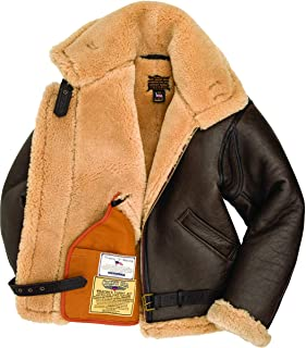 product image for Cockpit USA R.A.F Brown Sheepskin Leather Bomber Jacket