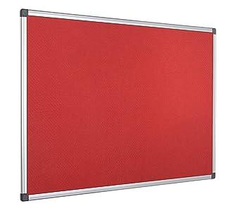 Graue Filzoberfl/äche Bi-Office Filztafel Maya Zum Gebrauch Mit Pinnnadeln Pinnwand Mit Aluminiumrahmen 60 x 45 cm