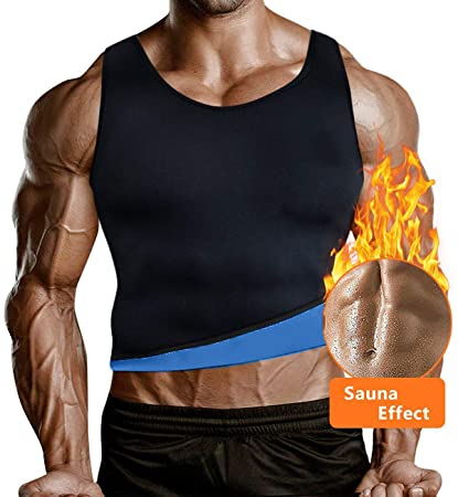 087834d31b Image Unavailable. Image not available for. Color  Optlove Men Sauna Waist  Trainer Vest Body Slimming Shaper Hot Sweat ...