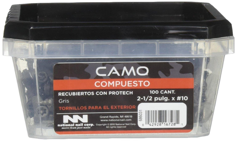 CAMO 0349450 100CT 2-1/2 Inch x #10 Grey Nails