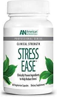 product image for American Nutriceuticals – Stress Ease – 60 Capsules – Professionally Formulated Natural Stress Relief – Multi–Faceted Potent Blend of Herbs, Amino Acids & Minerals