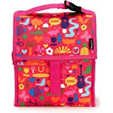 PackIt 10'' inch 10 h hour Freezable Foldable Reusable Multipal Uses Lunch Bag with Adjustable Strap - Premium (Saturday)