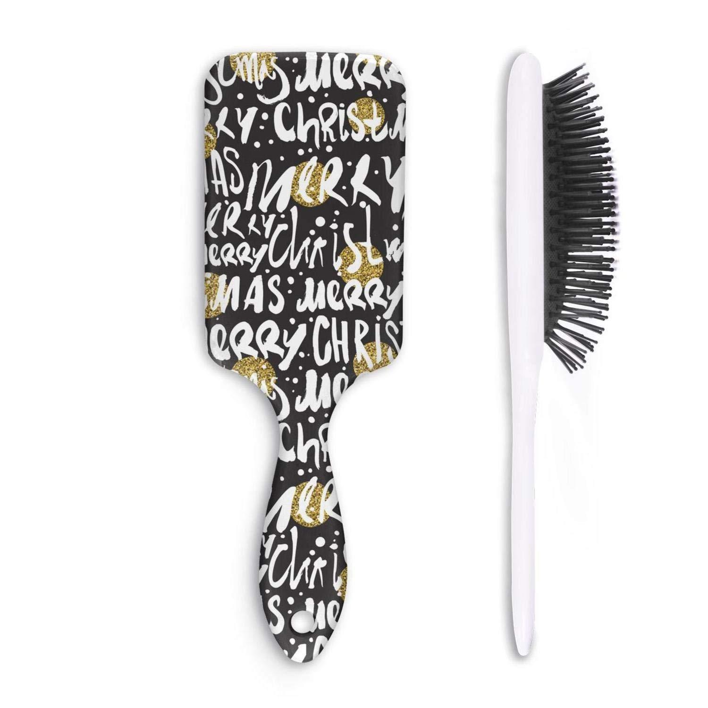Amazon Com Cute Hair Brush Merry Christmas Banner Decorations Anti Hair Loss Unisex Print Dry Hair Styling Beautiful Women Head Comb Beauty