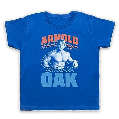Inspired Apparel Inspiriert durch Arnold Schwarzenegger The Austrian Oak  Bodybuilder Unofficial Kinder T-Shirt: Amazon.de: Bekleidung