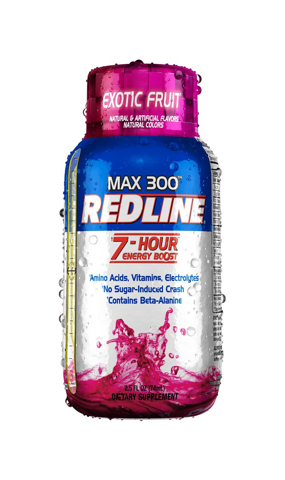 VPX Redline Power Rush 7-Hour Energy Max 3001 Shot Supplement, Exotic Fruit, 2.5 Ounce (Pack of 12) by VPX