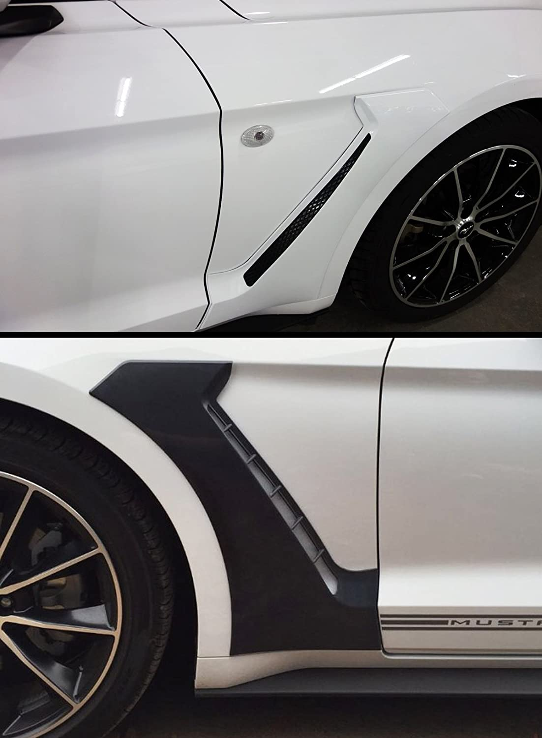 Fits for 2015-2019 Ford Mustang GT Style Front Fender Side Panel Door Side Scoops Vents