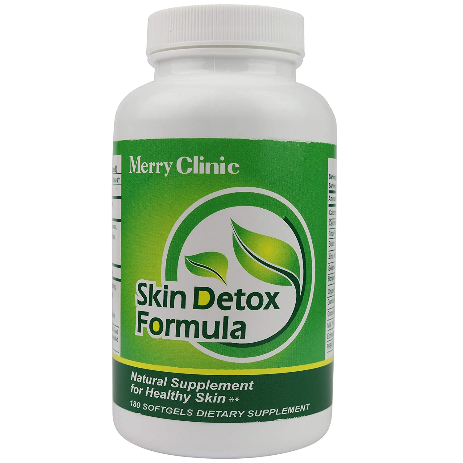 Skin Detox Formula by Merry Clinic – Detox Pills Dietary Supplements for Better Skin – Botanical Clear Skin Vitamins
