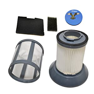 HQRP Dirt Cup Filter Assembly for Bissell 6489/64892 / 64894 Zing Bagless Canister Vacuum Cleaner plus HQRP Coaster