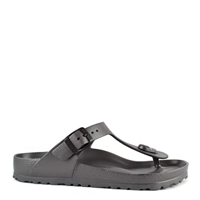 cbe07be3e63 Birkenstock Gizeh Anthracite Rubber Thong Sandal  Amazon.co.uk  Shoes   Bags