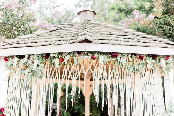 Handmade Macrame Wedding Ceremony Altar Or Arbor Hanging Cake Table Decor